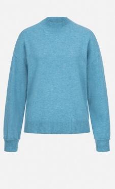 Lanius High Neck Sweater Aqua Melange