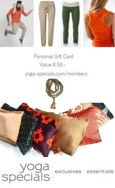 Yoga Specials Cadeaubon - 50