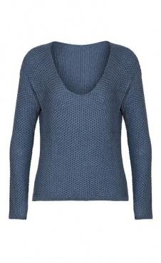 Maple Waffle Sweater - Blue