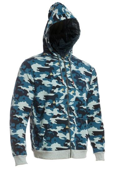 Mens Chakra Hooded Zip Jacket