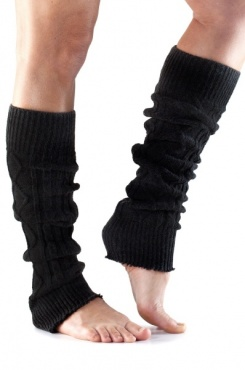 Knitted Leg Warmer - Black