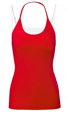 Top & Tank Combo - Poppy Red&White