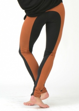 Lapsang Yoga Leggings - Nero/Toffee
