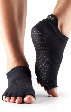 Toesox Teensokken Half Toe - Black
