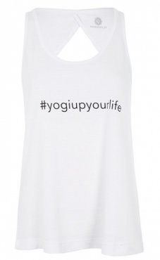 Yogi Up Your Life Top - White